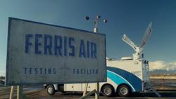 Ferris Air Testing Facility Sign