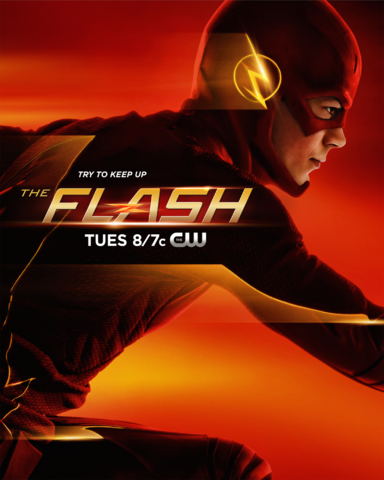 File:The Flash promo poster - Try to keep up.png