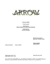 Arrow script title page - The Fallen