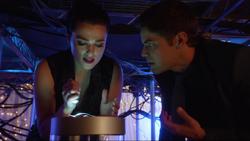 Winn and Lena fix a black burst generator