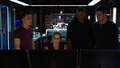 Roy, Felicity, Diggle and Oliver in the Arrowcave.png