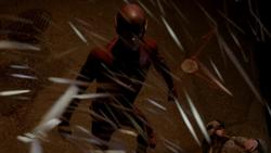 Kinetic needles raining over The Flash