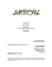 Arrow script title page - Time of Death.png