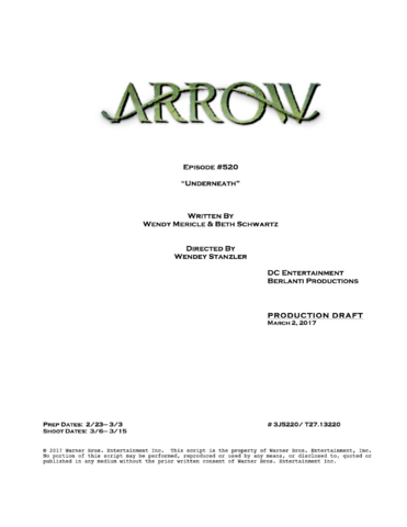 File:Arrow script title page - Underneath.png
