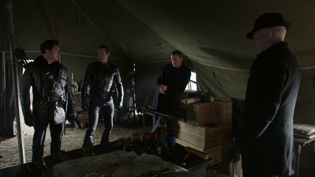 File:The Legion being informed by Eobard Thawne about the Legends from the future.png