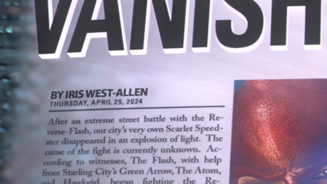 """File:Newspaper from the future displays the byline as """"Iris West-Allen"""".png"""