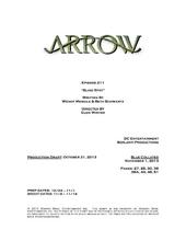 Arrow script title page - Blind Spot
