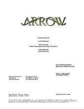 Arrow script title page - Left Behind