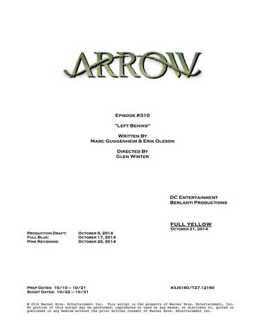 Archivo:Arrow script title page - Left Behind.png