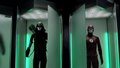 Green Arrow suit and the Flash suit side by side.png