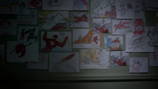 File:James Jesse's drawings of the Flash on the wall of his maximum security ward in Iron Heights.png