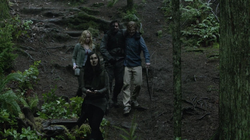 Oliver, Sara, Slade and Shado follow the hōzen's coordinates