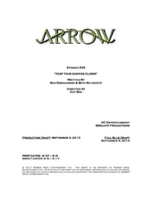 Arrow script title page - Keep Your Enemies Closer.png