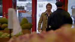 John Constantine entering Great Wall Supermarket