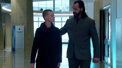 Vandal Savage tells Per Degaton the tale of Oedipus Rex