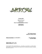 Arrow script title page - Broken Dolls