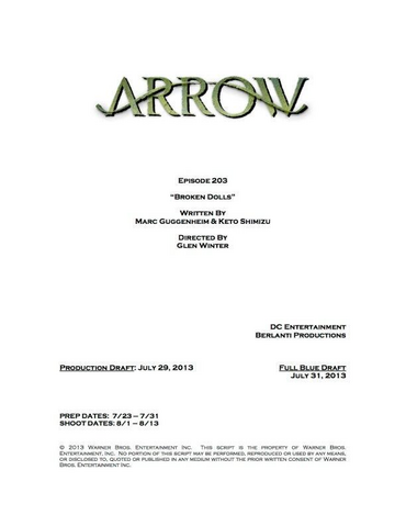 File:Arrow script title page - Broken Dolls.png