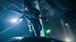 Oliver as the vigilante