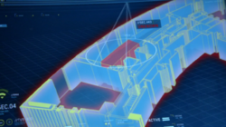 Wells' room as it appears on Cisco's 3D model