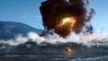 Barry Allen runs off with Caitlin Snow after Firestorm detonates.png