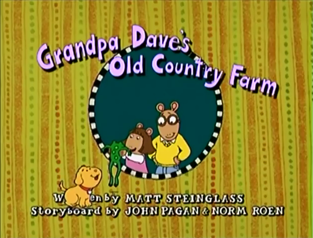 Old cartoon title cards arthur