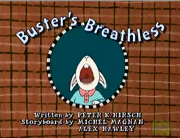 Buster's Breathless Title Card