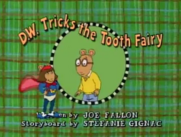 D.W. Tricks the Tooth Fairy Title Card