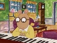 Arthur thinking about the piano