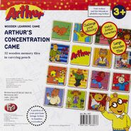 Arthur's concentration game box back