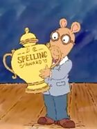 Arthur wins spelling competition