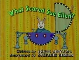What Scared Sue Ellen? Title Card