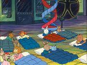 Class sleepover - composite image