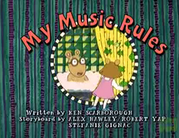 My Music Rules Title Card
