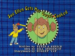 Sue Ellen Gets Her Goose Cooked Title Card