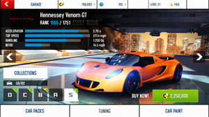 Hennessey Venom GT base stats and price