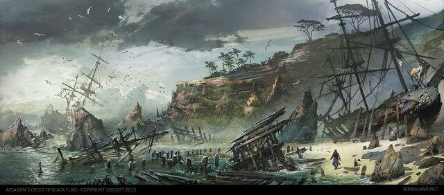 File:AC4BF Nassau Ship Graveyard - Concept Art.jpg