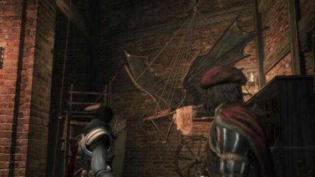File:Ezio and Leonardo talking about the Flying Maschine.jpg