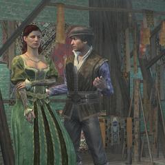 Duccio probeert te flirten met Sofia Sartor.