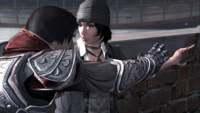 File:Ezio and Rosa at Ezio´s Birthday.jpg