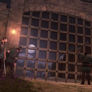 Bartolomeo en zijn huurlingen buiten het Franse kamp.