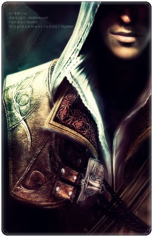 File:Ezio Auditore Di Firenze Smirk by Marlowlover.jpg