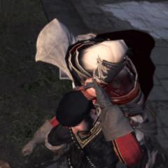 Ezio vermoord de wachter.