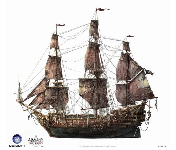 File:Assassin's Creed IV Black Flag -Ship- QueenAnne'sRevenge by max qin.jpg