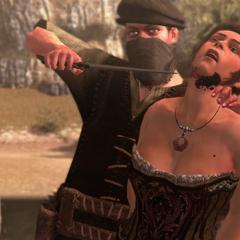 Een slavenhandelaar doodt madam Solari