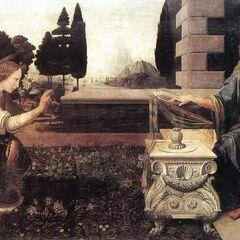 <b>圣母领报</b><br />(Annunciation)<br /> 达芬奇