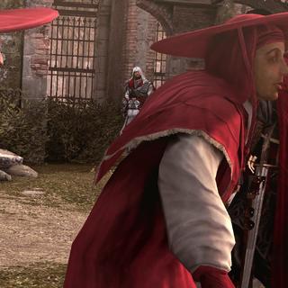 Ezio confronteert Cesare.