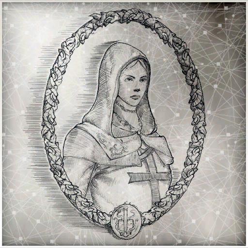 一幅玛利亚的半身画像