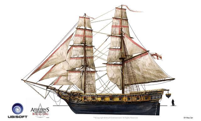 File:Assassin's Creed IV Black Flag -Ship- British Military Brig by max qin.jpg