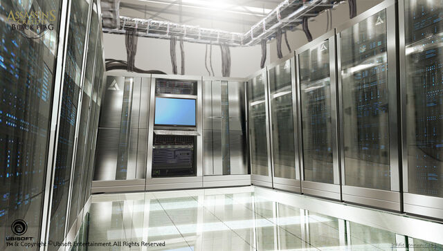 File:Assassin's Creed IV Black Flag Abstergo Entertainment Server Room Concept Art by EddieBennun.jpg