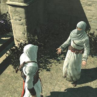 De informant deelt informatie met Altaïr.